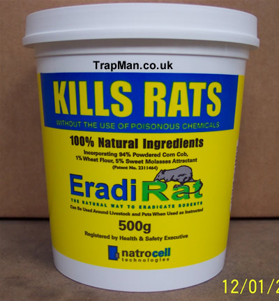 rat killer EradiRat, KILLS RATS, not a rat poison a rat KILLER